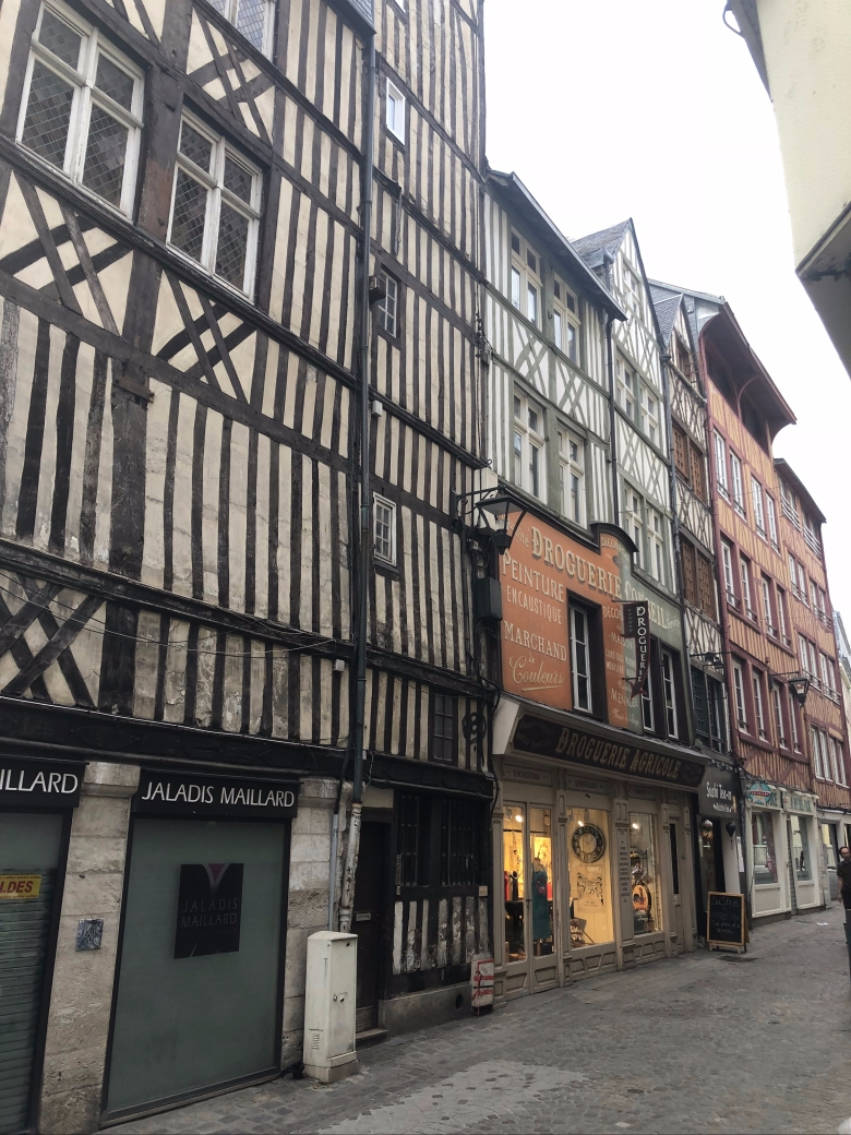 rouen, medieval town, medieval quarter, old town, France